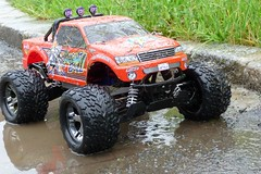 Etwas schmutzig :) (mastergery) Tags: road new test cars nature electric speed radio fun outdoors drive high jumping model track control offroad 4x4 4wd off racing downhill vehicles dirt rc jumps awd stampede offroading stunt traxxas backflip 2011 pede brushless vxl rtr