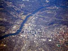 Aerial Photo of Austin, Texas (JoWiJo) Tags: travel water austin river texas ground aerial southwestairlines statecapital