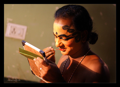 Makeup of Kathakali, India