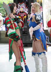 Two Soul Calibur Girls (heath_bar) Tags: seattle game anime girl costume tv dvd cosplay manga saturday weapon wa series animated 2008 soulcalibur sakuracon washingtonstateconventioncenter
