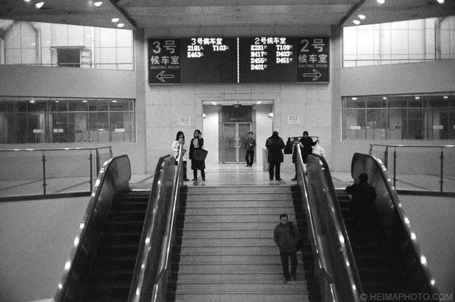 火车站的候车室