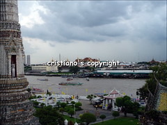 Chao Phraya river from the Temple of the Dawn - Bangkok, Thailand (cristiano1973) Tags: boys thailand temple market bangkok buddha monk tuktuk nightlife watarun thaifood chaophrayariver patpong recliningbuddha templeofdawn samutprakan krungthep thecityofangels watphot