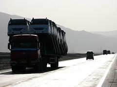 Overload near Turpan, Xinjiang Province, China
