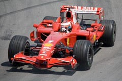 [フリー画像] [自動車] [レーシングカー] [F1/フォーミュラー1] [フェラーリ/Ferrari] [キミ・ライコネン/Kimi Raikkonen] [2008 カナダGP]     [フリー素材]
