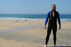 Charles in wetsuit (CharlesFred) Tags: watergatebay cornwall englandengland seasideengland