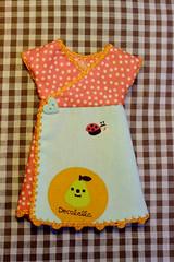 pear and ladybug (megipupu) Tags: japanese dress handmade wrap kawaii blythe decole decolello megipupu