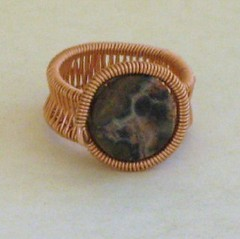 Leopard Jasper Wire Wrapped Copper Ring (ccdesign) Tags: wire jewelry ring copper wirewrapped ccdesign leopardjasper