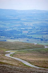 The bikers road up Hartside