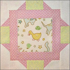 "Block from ""Tickled Pink"" quilt"