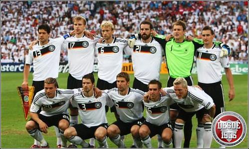 Once alemán frente a Turquía