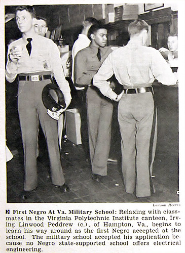 First Negro at Virginia Military School - Jet Mag, Oct 1, 1953 por vieilles_annonces.
