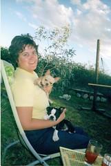 Puppy Ivan on my lap, Sept. 2004 (EllenJo) Tags: arizona pets chihuahua home dogs 2004 me yard 35mm puppy ivan az floyd bloodymarys september2004 verdevalley cheapplasticcamera age32 babyivan importantdates theeucalyptustreewassosmall