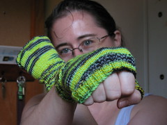 Knucks without the fingers (haldechick) Tags: knitting yarn knucks 2008fo