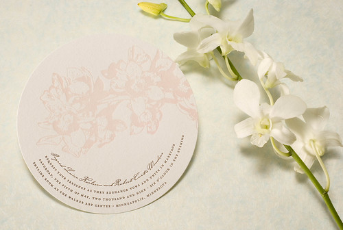 Unique Mini Circles Wedding Invitation-2
