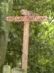 Signpost on the Wrekin