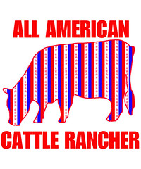 ALL AMERICAN CATTLE Rancher (knewfy) Tags: ranch cattle farm beef farmer redwhiteandblue cattlerancher