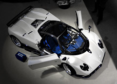 B&W ... and blue (leliods) Tags: auto roma car luxury supercar zonda pagani lusso zondaf caiola leliods