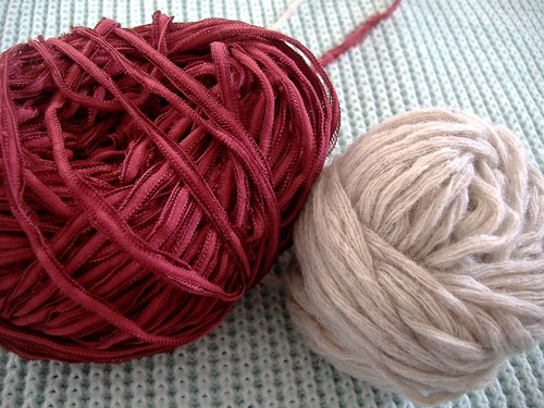 step by step contrast yarn