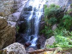 Descente du ravin de Laoscella : 1ère cascade de Laoscella du bas