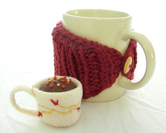 Gryffindor House Pride Mug Cozy and Tea Cup Mini Pin Cushion