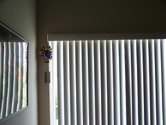 Day 13 - July 20, 2008 (TinkerbellAPixie) Tags: light reflection blinds windchimes