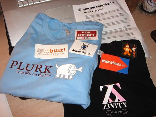 Plurk & Zivity T-shirts from StartupSchwag 10