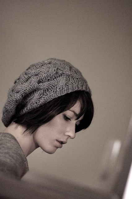 Star Crossed Slouchy Beret by Natalie Larson