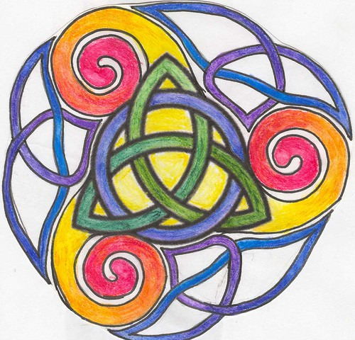 tattoo design. triquetra. triskel