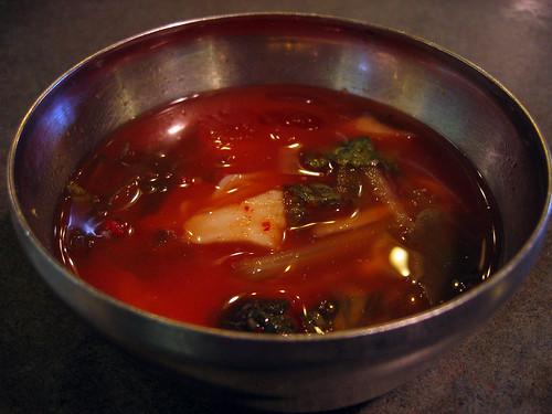 Cold kimchi soup