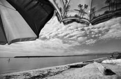 Img005 (Jordan Roberts) Tags: sun film beach clouds umbrella island sand board paddle savary