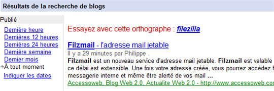 google blogsearch accessoweb