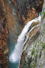 Water from Vajont (scaccomatto81) Tags: mountain water rock canon stream montagna eos300d cascata diga vajont scremin81