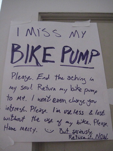 I MISS MY BIKE PUMP