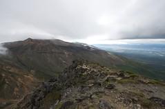 十勝岳山頂は雲の中