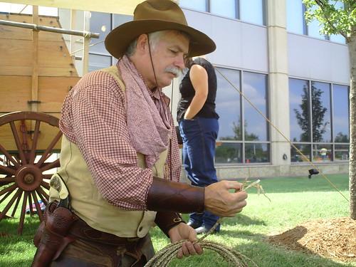 Cowboy rawhide rope
