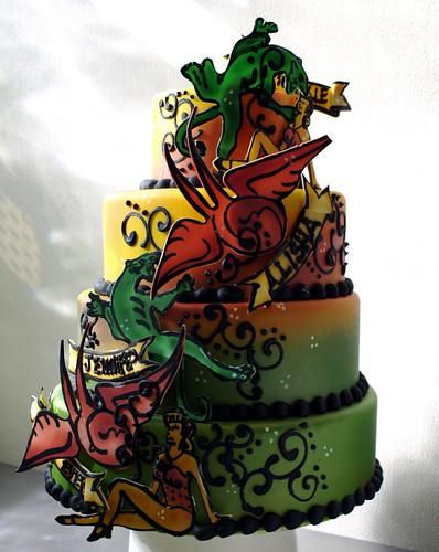 Mango Tattoo Cake