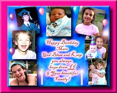 HAPPY BIRTHDAY MARE!! From ALL of us! (fantartsy JJ *2013 year of LOVE!*) Tags: birthday friends blessings happybirthday hugs greetingcard lovecelebrations