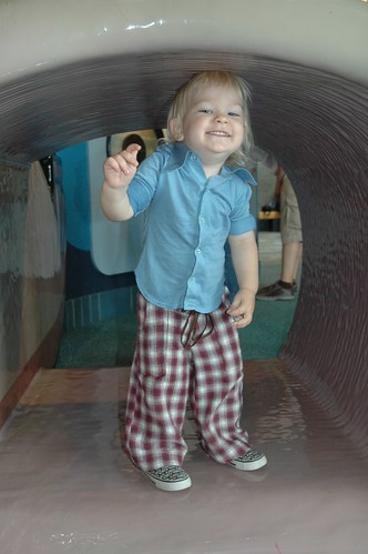 Bopping His Head on the Tunnel