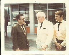 My Dad and the Colonel (daradactyl) Tags: favorite chicken dad kentucky kfc colonel fried hairstyle sanders harlan