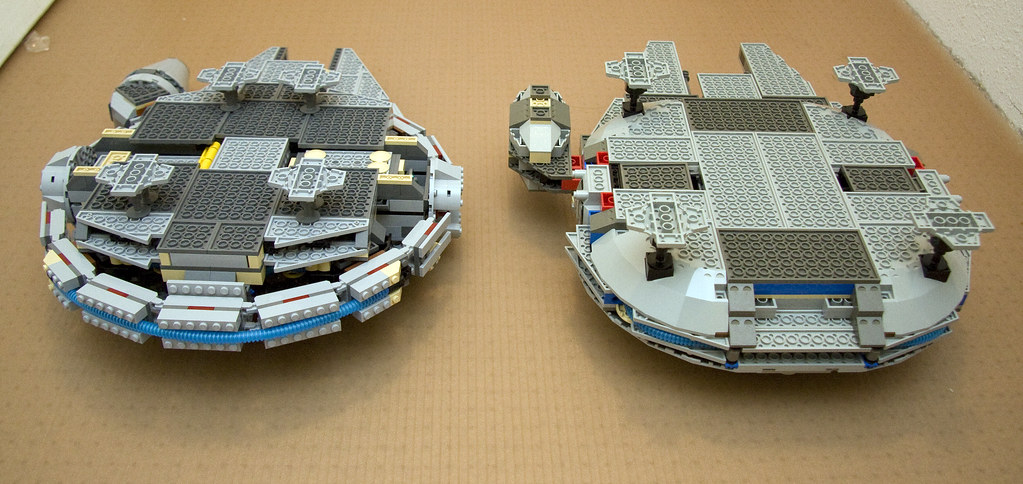 Comparison Between 7190 And 4504 Lego Millennium Falcon Starstreak007 Tags