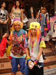 Harajuku rainbow girls