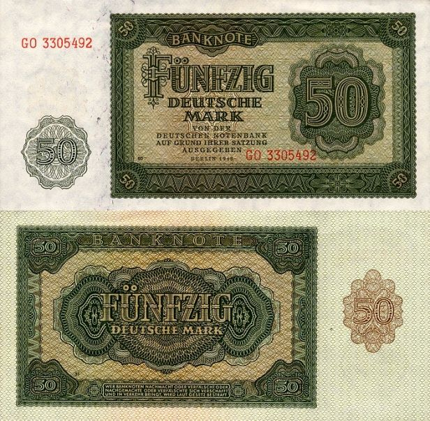 East Germany 50 Mark, 1948
