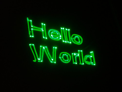 Laser Hello World
