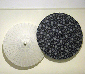 parasols on the wall
