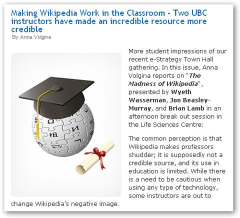 Wikipedia in the classroom