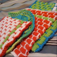 Dishcloths (fairysari) Tags: holiday knitting handmade knit dishcloth gifts gift fo holidaykalcal2008