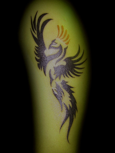 phoenix tattoo. tattoo. tribal