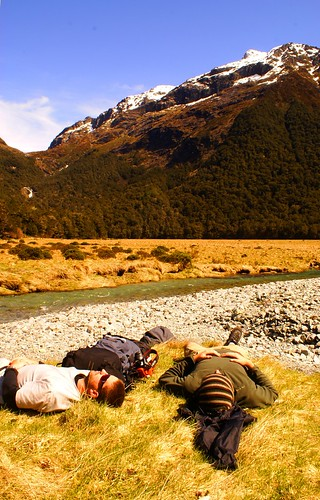 Napping on the Routeburn Track