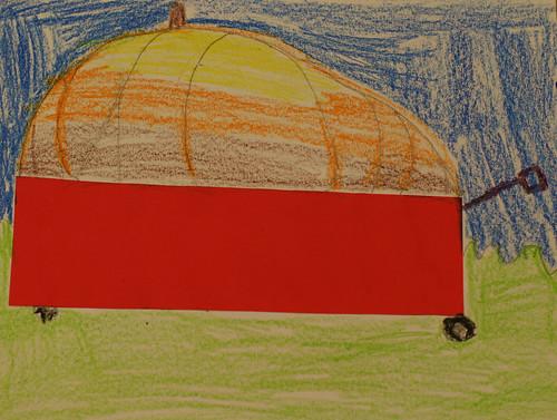 Zoe T's pumpkin in wagon