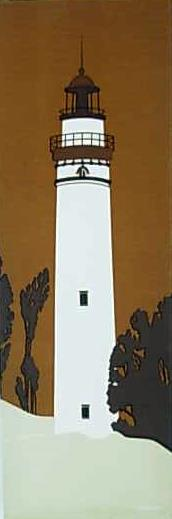 Marushka - white lighthouse on brown